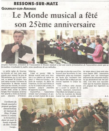 Article de Oise Hebdo